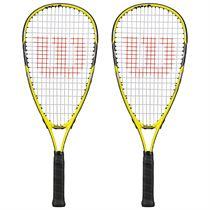 Wilson Ripper Junior Squash Racket Double Pack
