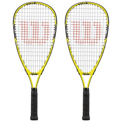 Wilson Ripper Junior Squash Racket Double Pack - Front View