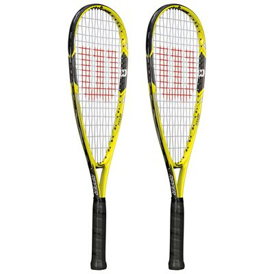 Wilson Ripper Junior Squash Racket Double Pack - Side View