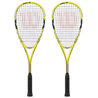Wilson Ripper Team Squash Racket Double Pack - Front View