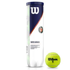 Wilson Roland Garros All Court Tennis Balls - Tube of 4