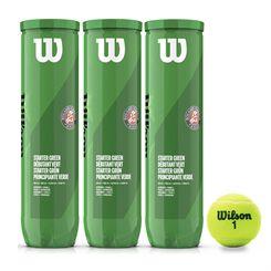 Wilson Roland Garros Green Tennis Balls - 1 Dozen