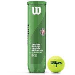 Wilson Roland Garros Green Tennis Balls - Tube of 4