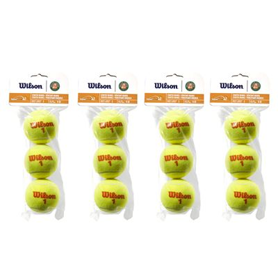 Wilson Roland Garros Orange Mini Tennis Balls - 1 Dozen