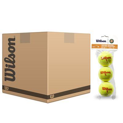 Wilson Roland Garros Orange Mini Tennis Balls - 5 Dozen
