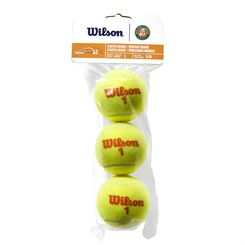 Wilson Roland Garros Orange Transition Tennis Balls - Pack of 3