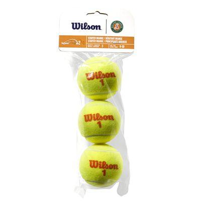 Wilson Roland Garros Orange Transition Tennis Balls - Pack of 3