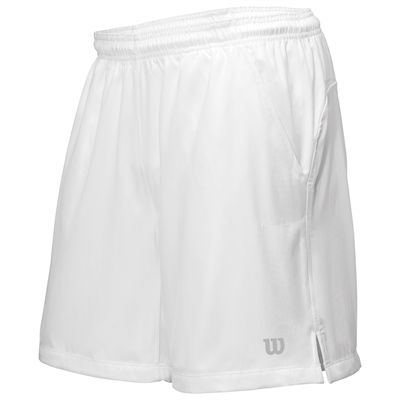 Wilson Rush 7 Tennis Woven Mens Shorts-White-Front