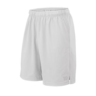 Wilson Rush 9 Woven Mens Shorts SS17 - White/Front