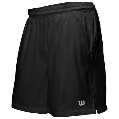 Wilson Rush 9 Woven Mens Shorts-Black-Front