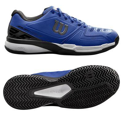 Wilson Rush Comp Mens Tennis Shoes - Blue