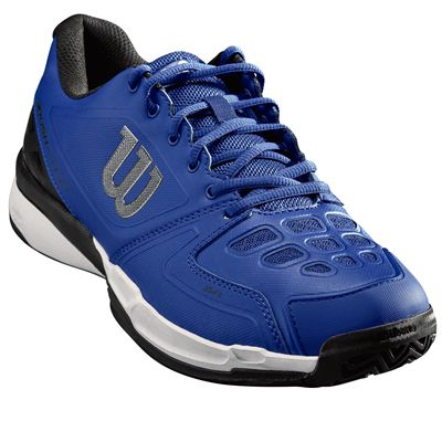 Wilson Rush Comp Mens Tennis Shoes - Blue/Angled