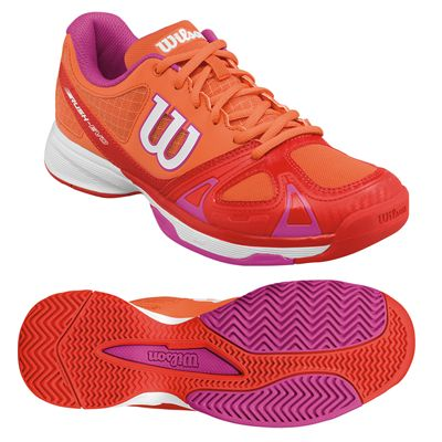 Wilson Rush EVO Ladies Tennis Shoes - Orange/Red