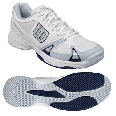 Wilson Rush EVO Mens Tennis Shoes White/Blue