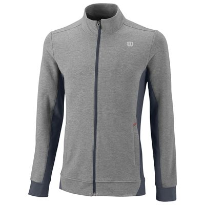 Wilson Rush Knit Mens Jacket-Grey-Black-Front