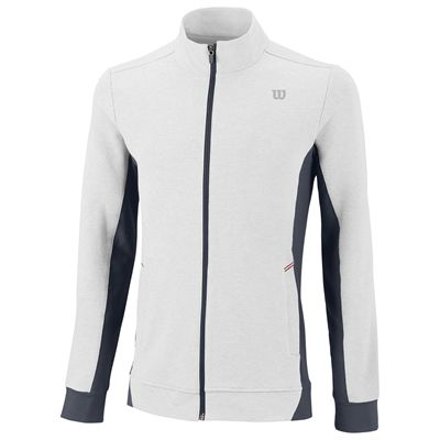 Wilson Rush Knit Mens Jacket-White-Black-Front