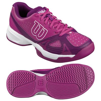 Wilson Rush Open 2.0 Ladies Tennis Shoes-Pink-White-Image