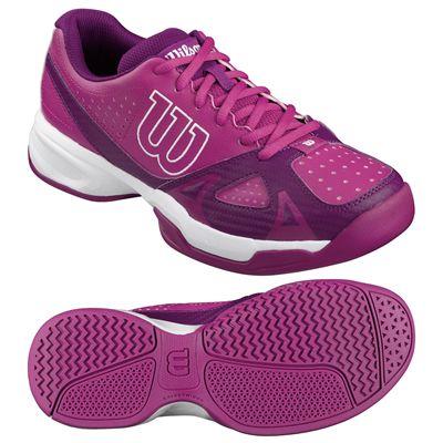 Wilson Rush Open 2.0 Ladies Tennis Shoes-Pink-White-Image