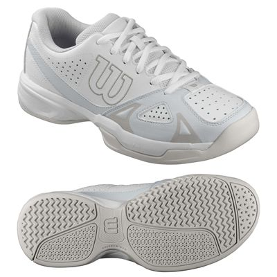 Wilson Rush Open 2.0 Ladies Tennis Shoes-White-Grey-Image