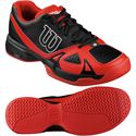 Wilson Rush Open 2.0 Mens Tennis Shoes-Black-Red-Image