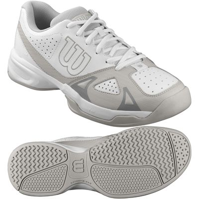 Wilson Rush Open 2.0 Mens Tennis Shoes-White-Grey-Image