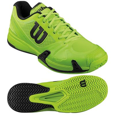 Wilson Rush Pro 2.0 Mens Tennis Shoes-Black-Lime-Image