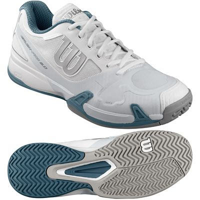 Wilson Rush Pro 2.0 Mens Tennis Shoes-White-Gray-Blue-Image