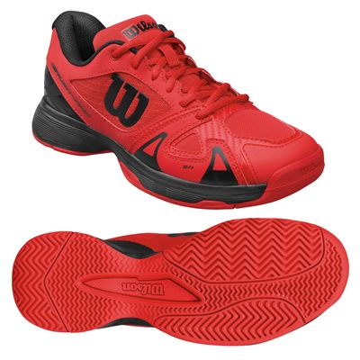 the latest b681d 1fa80 Wilson Rush Pro 2.5 Junior Tennis Shoes - Red Black