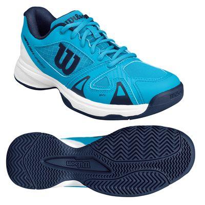 Wilson Rush Pro 2.5 Junior Tennis Shoes - White/Blue