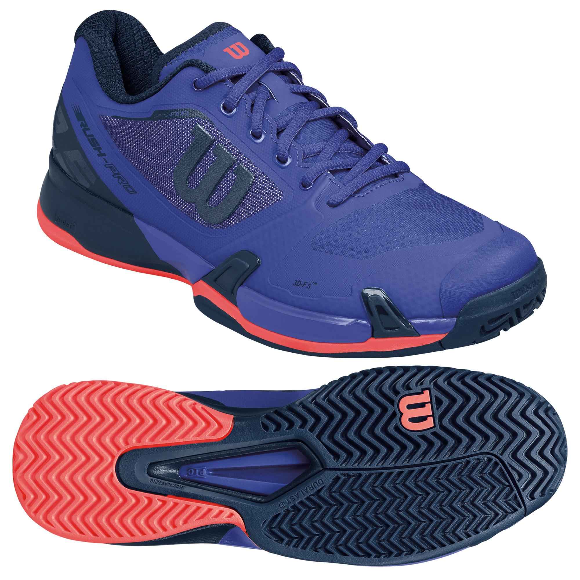 Wilson Rush Pro 2.5 Mens Tennis Shoes  NavyPink 10 UK