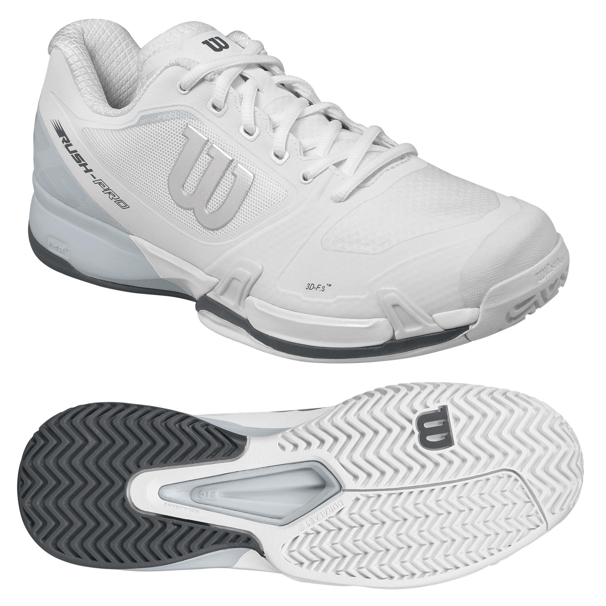Wilson Rush Pro 2.5 Mens Tennis Shoes  WhiteGrey 10 UK