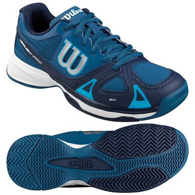 Wilson Rush Pro Junior Tennis Shoes-Blue-White-Image