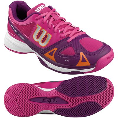Wilson Rush Pro Junior Tennis Shoes-Pink-Purple-Image