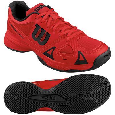 Wilson Rush Pro Junior Tennis Shoes-Red-Black-Image