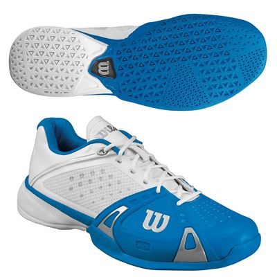 Wilson Rush Pro Mens Tennis shoes - white blue