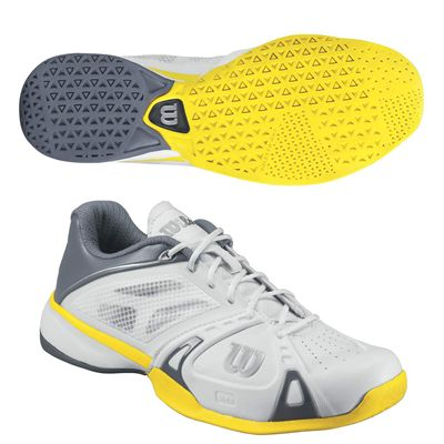 Wilson Rush Pro Mens Tennis shoes - whitegreyyellow