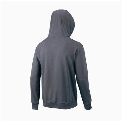 Wilson Script Cotton FZ Mens Hoody - Grey/Back