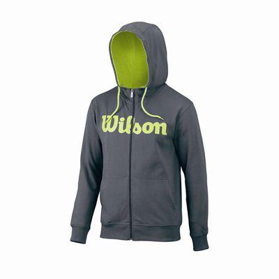Wilson Script Cotton FZ Mens Hoody - Grey