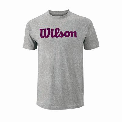 Wilson Script Cotton Mens T-Shirt - Front