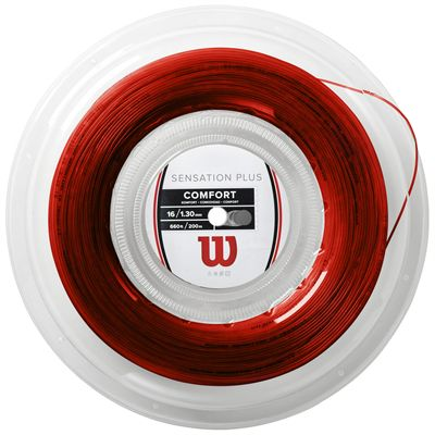 Wilson Sensation Plus Tennis String - 200m Reel - Red