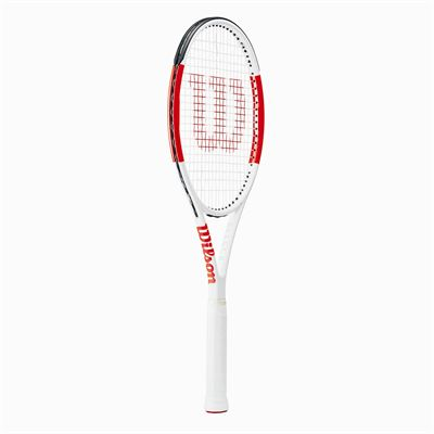 Wilson Six.One 95 Team Tennis Racket - Angled