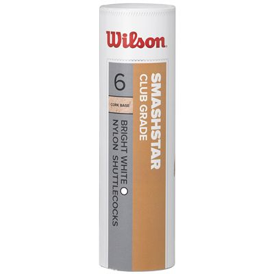Wilson Smashstar Synthetic Shuttlecocks-White-Tube of 6