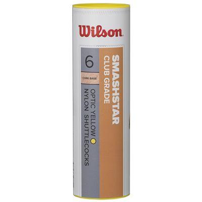 Wilson Smashstar Synthetic Shuttlecocks-Yellow-Tube of 6