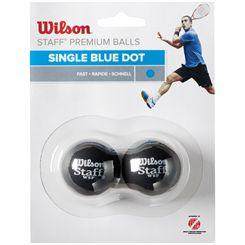 Wilson Staff Blue Dot Squash Balls - Pack of 2