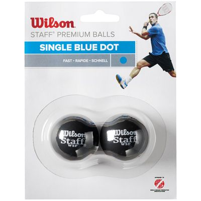 Wilson Staff Blue Dot Squash Balls - Pack of 2