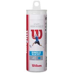 Wilson Staff Blue Dot Squash Balls - Tube of 3