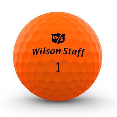 Wilson Staff DX2 Optix Golf Balls - 1 Dozen - Orange - Front