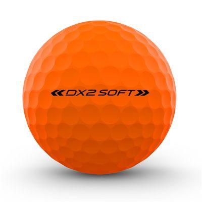 Wilson Staff DX2 Optix Golf Balls - 1 Dozen - Orange - Back