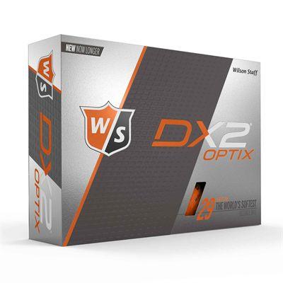 Wilson Staff DX2 Optix Golf Balls - 1 Dozen - Orange