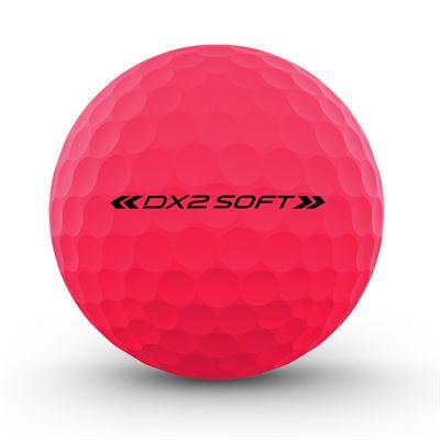 Wilson Staff DX2 Optix Golf Balls - 1 Dozen - Pink - Back